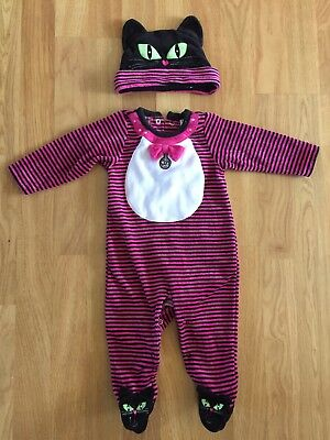 Baby girl Halloween Cat costume baby grow 3-6 months
