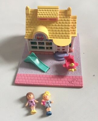 Vintage Bluebird 1993 Polly Pocket Toy Shop Street Store Dolls 100% Complete