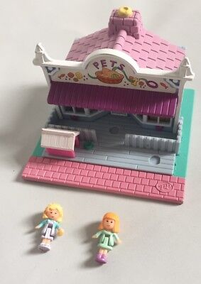 Vintage Bluebird 1993 Polly Pocket Pet Shop Street Dolls Near Complete
