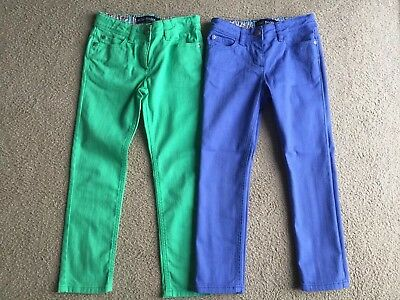 *** MINI BODEN Girls Jeans Trousers Age 7 Years X2 *** BNWOT ***