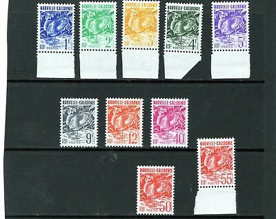 New Caledonia various Kagu issues 1f - 55f. Mtd. MINT