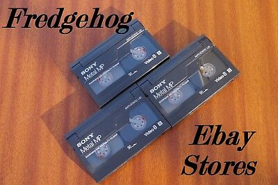 3 x SONY P5-90MP  - 8MM / VIDEO 8 / Hi 8  CAMCORDER TAPES / CASSETTES - BLANKED