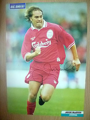 Original Hand Signed Press Cutting- JASON McATEER, Liverpool FC (apx. A4 Size)