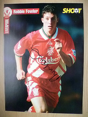 Original Hand Signed Press Cutting- ROBBIE FOWLER, Liverpool FC (apx. A4 ).