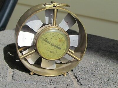 Vintage Anemometer Velocity Meter Brass St Louis Mo A.S. Aloe Co