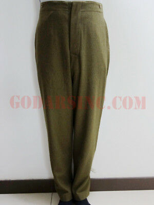 WW1 Canadian Army Brown-green Wool Servie Dress SD trousers Size M