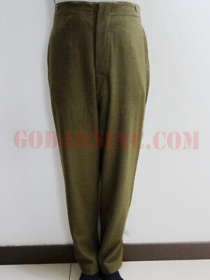 WW1 Canadian Army Brown-green Wool Servie Dress SD trousers Size L