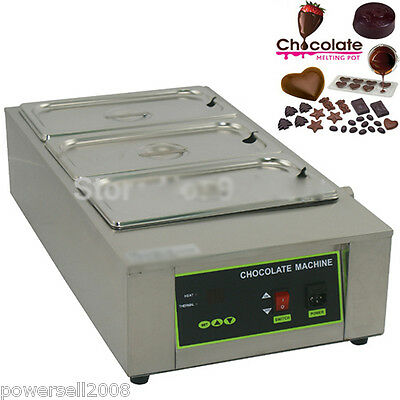 New Stainless Steel Commercial Use Electric Melting Pot Chocolate Fountains