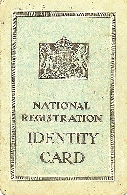 National Registration Identity Card Wartime 1943