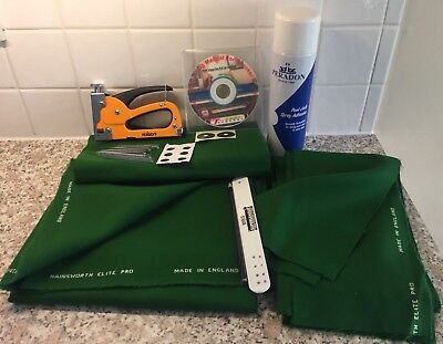 7ft UK Pool Table Recovering Kit & Tutorial DVD (Hainsworth Speed Cloth)