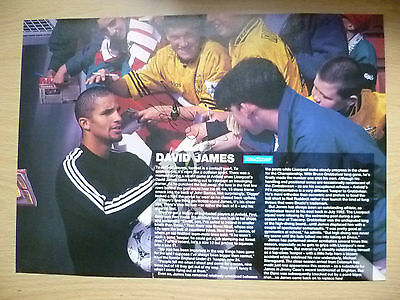 Original Hand Signed Press Cutting- DAVID JAMES, Liverpool FC (apx.. A4)