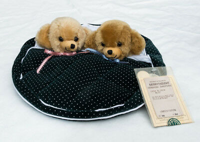 Merrythought Cheeky Nightdress Case with 2 Mohair Cheeky Teddy Bear Heads NC212