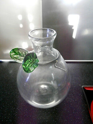 Rare Early Scottish Lindean Mill Glass Pear Vase Signed 1981