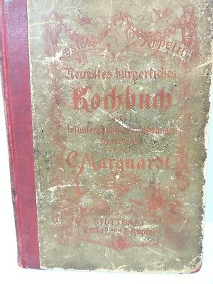 Antique 1886 C. Marquardt German HC Cookbook Recipes Book in German