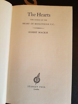 Story of Hearts FC book by Albert Mackie 1959