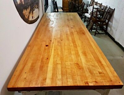 Large Vintage Bakery Table