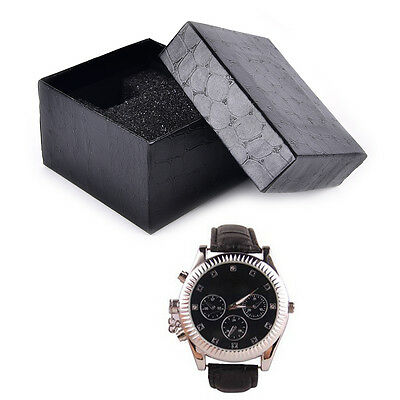 Black PU Noble Durable Present Gift Box Case For Bracelet Jewelry Watch WKUS