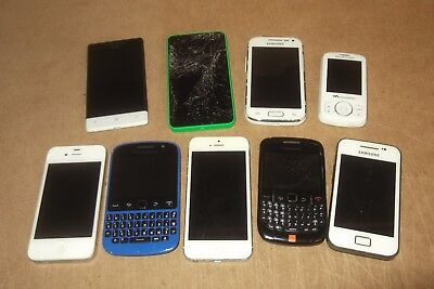 Job Lot Used Mobile Phones I-Phone Blackberry Htc Nokia Samsung - Spares Repair
