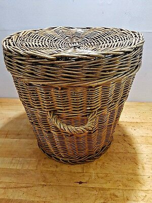 Vintage Lidded Storage Basket