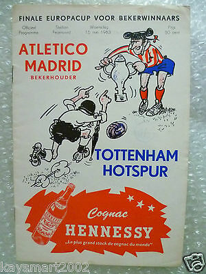 1963 European Cup Winner's Cup Final- TOTTENHAM HOTSPUR v ATLETICO MADRID,15 May