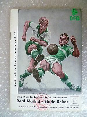 1959 European Cup FINAL - REAL MADRID v STADE REIMS- (Excellent, Original*)