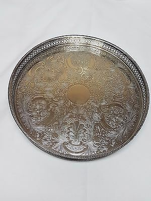 Vintage English Silverplated Drinks Tray