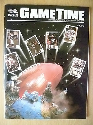 1992 World League; GAMETIME Official Magazine of the World League (Org, Exc*)