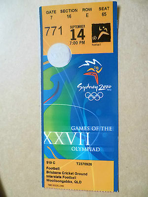 Ticket-Sydney 2000 Olympiad Games XXVII- INTERSTATE FOOTBALL~Brisbane Cricket GD