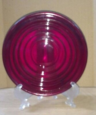 Vintage KOPP NOS Ruby Red Smooth Domed Glass Railroad Lantern Signal Lens 5 3/8""