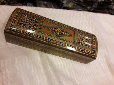 Syrian Beautiful Jewelry Wooden ottoman Moroccan Marquetry PEN BOX