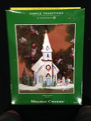 """Department 56 Simple Traditions Holiday Charms """"Church of Peace"""""""