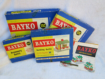 BAYKO BUILDING OUTFITS:  No.11 - with Conversion Kits to Outfits 12, 13 & 14