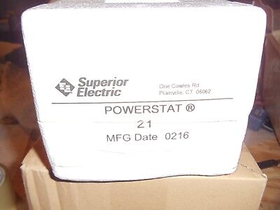 Superior Electric Powerstat Model: 21 Variable Transformer. Unused Old Stock