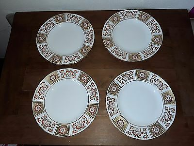 "Royal Crown Derby Red Panel 6 X 8.25"" Salad Plates"