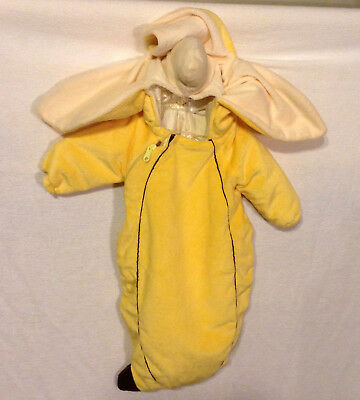 Banana Halloween Costume Plush Baby Bunting 0-3M