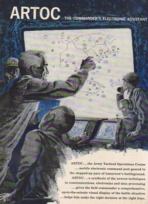 Mobile US Army Tactical Operations Center ARTOC 1961 Cold War Era Ad