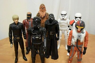 """8 Hasbro 12"""" Star Wars Action Figures Mixed Selection  NO RESERVE"""