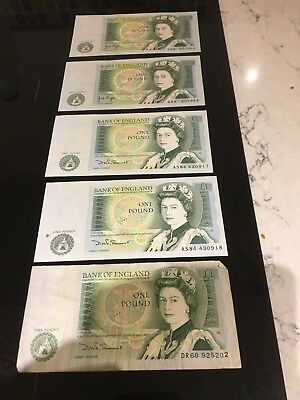 5 £1 Notes