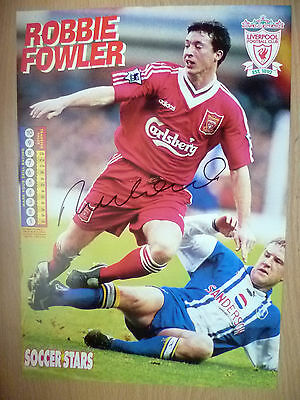 Original Hand Signed Press Cutting- ROBBIE FOWLER, Liverpool FC (apx A4 )