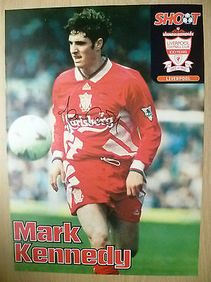 Original Hand Signed Press Cutting- MARK KENNEDY, Liverpool FC (apx. A4 ).
