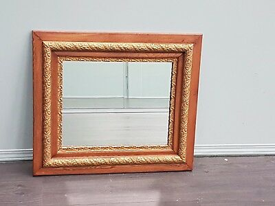 Ornate Oak framed Wall Mirror