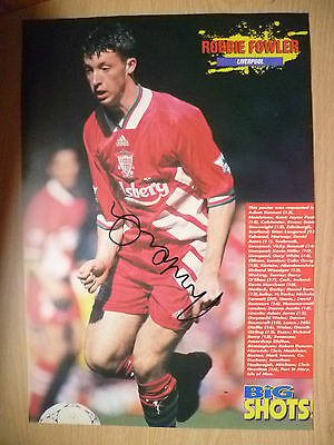100% Genuine Hand Signed Press Cutting of Liverpool FC Player - ROBBIE FOWLER