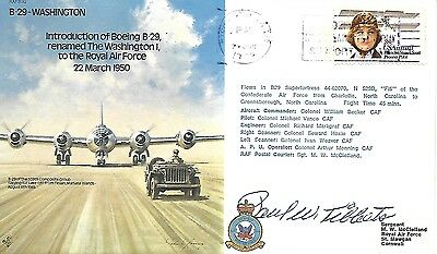 RAF B39c. BOMBER COMMAND SIGNED BY GENERAL PAUL W TIBBETS. 1238/1477.