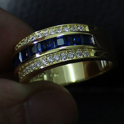 Elvis Presley Aloha from Hawaii Concert Ring Gold with Blue & CZ Stones 1973 NR
