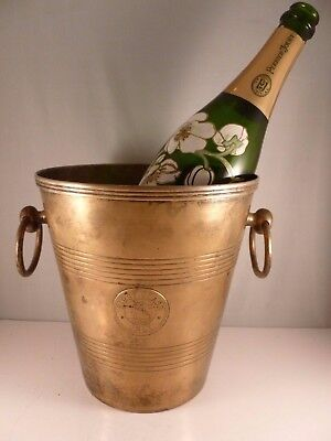 """VERY RARE antique steam ship ocean liner """" FIRST CLASS """" Champagne or ice bucket"""