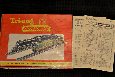 Triang Railways, R280 Third Edition Catalogue & Price Lists, 1957 Fair Condition