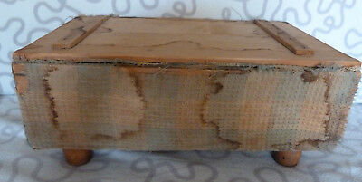 Footstool, Box, Vintage, Made By Disabled Ex Sevicemen (Wwii)
