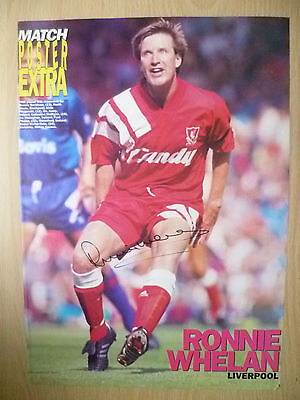Original Signed Press Cutting- RONNIE WHELAN at Liverpool FC (apx. A4 )