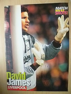 Original Hand Signed Mag Pictures- DAVID JAMES at Liverpool FC (apx. A4 )