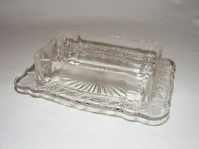 ANTIQUE VICTORIAN EARLY AMERICAN PRESSED GLASS BUTTER DISH BASE c. 1880